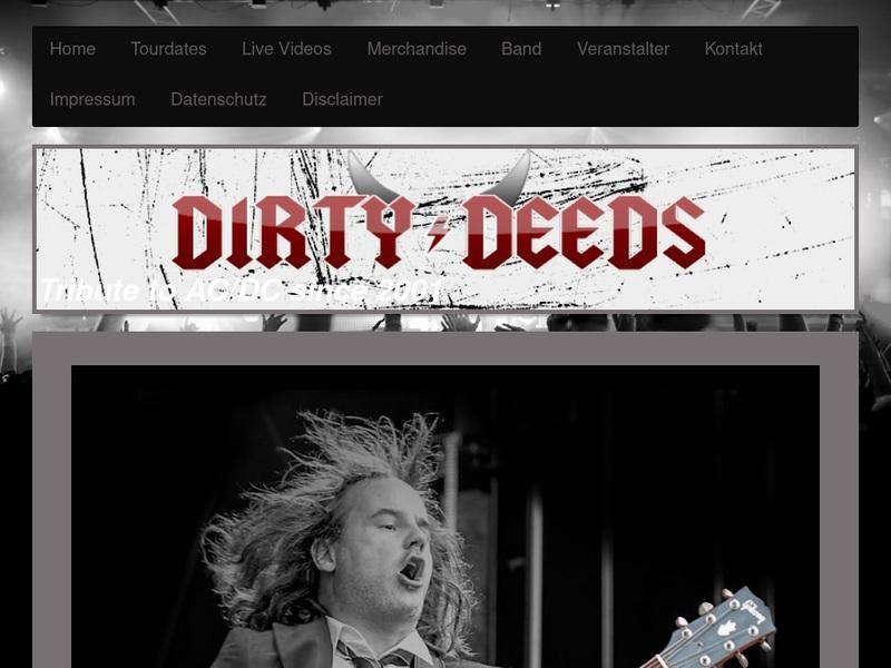 Screenshot von www.dirty-deeds.com
